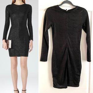 REISS metallic bodycone blk mini dress 2